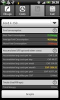 Screenshot of FuelLog - Car Management