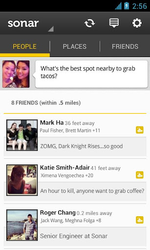 Sonar: Friends Nearby