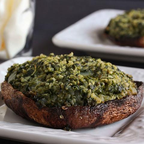 Spinach Stuffed Portobello Mushrooms Recipe | Yummly