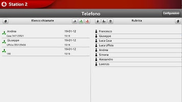 Screenshot of Vodafone Station 2 per Tablet