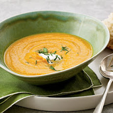 Creamy Carrot and Sweet Potato Soup
