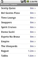 Screenshot of Restaurant Coupons