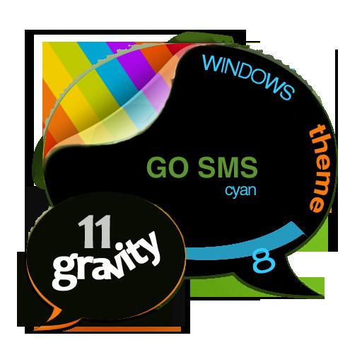 GOSMSTHEME Windows 8 Cyan 個人化 LOGO-阿達玩APP