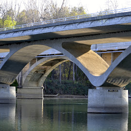 Along The Sacramento River by Fran Juhasz-Mckitrick - Buildings & Architecture Bridges & Suspended Structures (  )