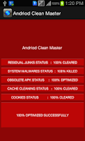 Screenshot of CLEANER MASTER High Speed