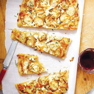 Potato Pizza With Caramelized Onions And Rosemary