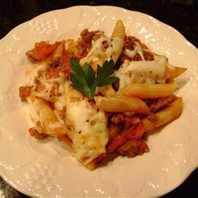 Sausage and Mozzarella Pasta Bake
