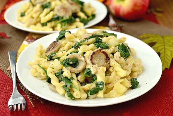 Chicken, Apple, And Calvados Sausage Recipe — Dishmaps