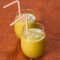 Avocado, Mango, and Pineapple Smoothie