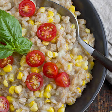 Farro Risotto with Corn and Tomatoes