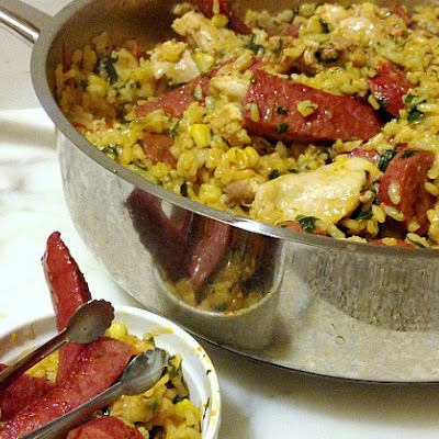 Kosher Chicken And Sausage Paella