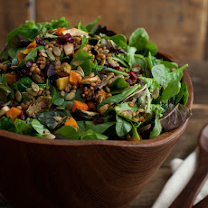 Vegan Wheatberry Salad with Harvest Roasted Vegetables
