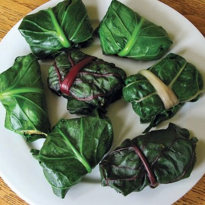 Chard- or Collard-Wrapped Polenta-Chile Tamale Packages From 'Heart of the Plate'