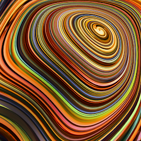 t e r r a c i n g by Ag Adibudojo - Abstract Patterns ( abstract, curve, pattern, pwclines, unusual, multicolor, lines )
