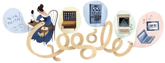 Doodle de 2012 em homenagem ao primeiro dos programadores da história : 197º aniversário de Ada Lovelace