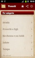 Screenshot of Proverbi e detti italiani
