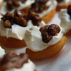Amaretto Apricots With Walnuts Teriyaki