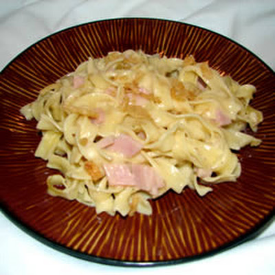 Easy Ham and Noodles