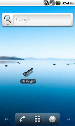 Flashlight tap to switch off