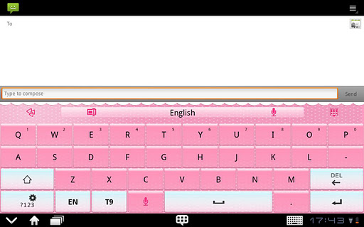 GO Keyboard Pink theme Pad