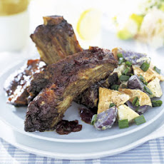 Barbecued Beef Ribs with Molasses-Bourbon Sauce
