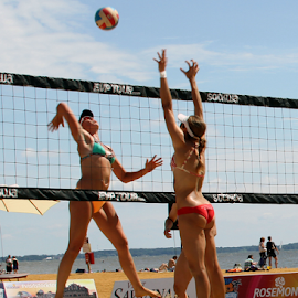 On The Sand by Donna Neal - Sports & Fitness Other Sports ( beach volleyball, maryland )