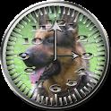 Dog 5 GermanShep Analog Clock icon