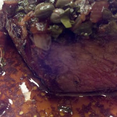 Rib-Eye Steaks With Balsamic-Caper Vinaigrette