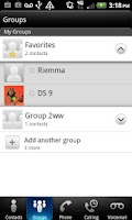 Screenshot of Group and Web Texting
