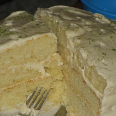 Key Lime Cake With White Chocolate Frosting (Paula Deen)