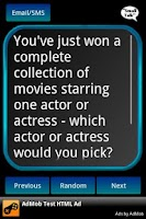 Screenshot of Conversation Starters
