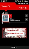 Screenshot of Vodafone FM