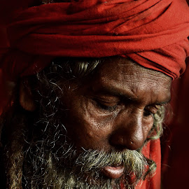 Thought by Arnab Bhattacharyya - People Portraits of Men