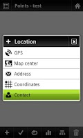 Screenshot of Locus - add-on Contacts