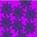 Crazy Electric Purple Flowers icon