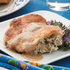 Swiss-Stuffed Chops