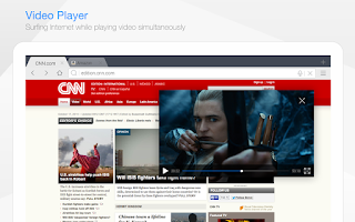 Screenshot of Baidu Browser for Tablet