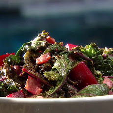 Kale with Roasted Beets and Bacon
