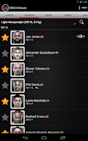 Screenshot of MMA Follower: All of MMA & UFC