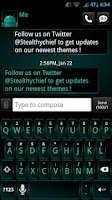 Screenshot of GO SMS Dark Cyan Theme
