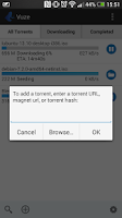 Screenshot of Vuze Torrent Downloader