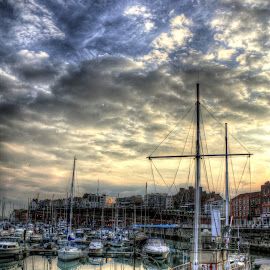 Ramsgate Habour by Charles Ong - Transportation Boats