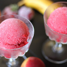 Strawberry, Nectarine, Orange and Banana Sorbet