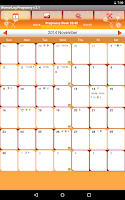 Screenshot of WomanLog Pregnancy Calendar