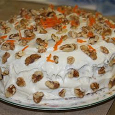 Moist Carrot Cake with Cream Cheese Icing