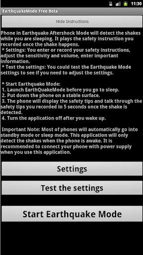 Earthquake Mode Free Beta