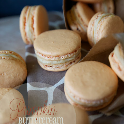 Pumpkin Buttercream French Macaroons