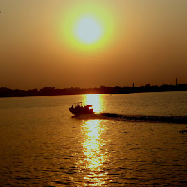 End Of the Day by Ayan Mukherjee - Landscapes Sunsets & Sunrises