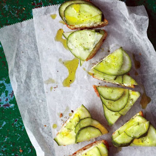 Cucumber-Feta Toasts
