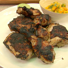 Grilled Jerk Chicken with Mango Cilantro Salsa